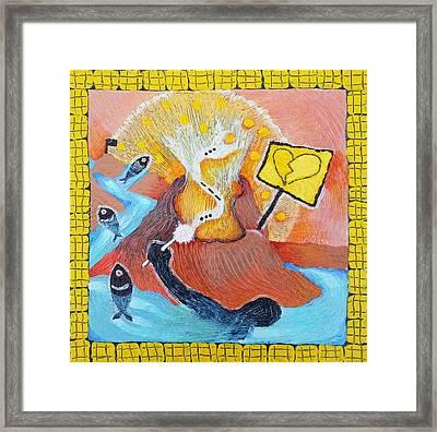 The Wish Of A Drowning Man Framed Print by Corey Habbas