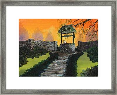 The Wishing Well Framed Print by David Kacey