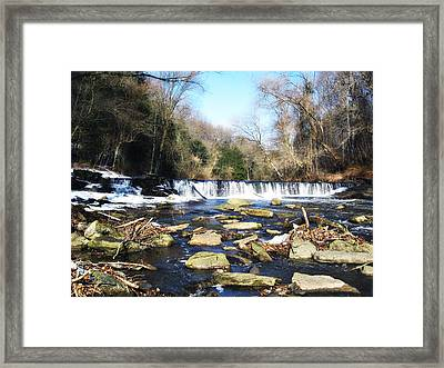 The Wissahickon Creek In February Framed Print by Bill Cannon