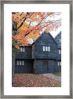 The Witch House Of Salem Framed Print by Jeff Folger