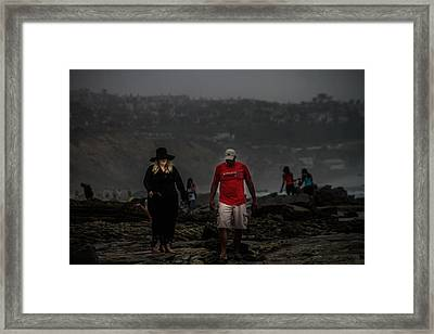 The Witch On The Beach Framed Print by Menachem Ganon