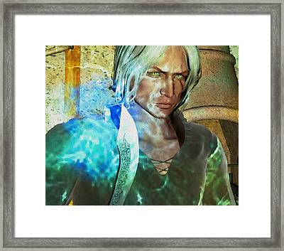 The Witcher Framed Print by Debra Kirk