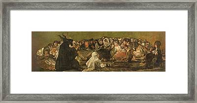 The Witches Sabbath Or The Great He-goat, One Of The Black Paintings, C.1821-23 Oil On Canvas Framed Print by Francisco Jose de Goya y Lucientes