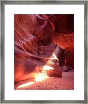 The Wizard Of Antelope Canyon Navajo Nation Page Arizona Framed Print by Silvio Ligutti