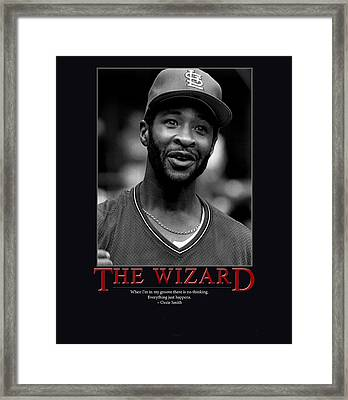 The Wizard Ozzie Smith Framed Print by Retro Images Archive