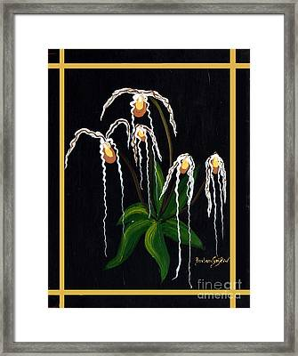 The Wizard Slipper Orchid Framed Print by Barbara Griffin