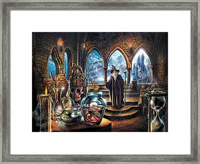 The Wizards Castle Framed Print by Steve Crisp