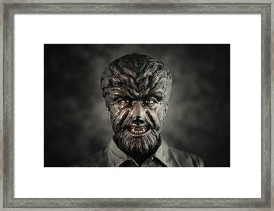 The Wolf Man - Lon Chaney Jr Framed Print by Marco Oliveira