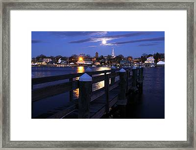 The Wolf Moon Framed Print by Butch Lombardi