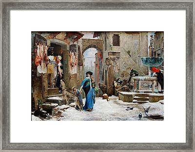 The Wolf Of Gubbio Framed Print