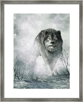 The Wolf Of Winter Framed Print