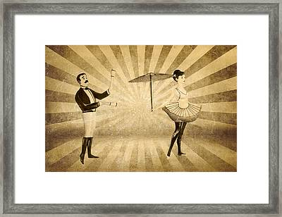 The Woman And The Acrobat Framed Print by Heike Hultsch