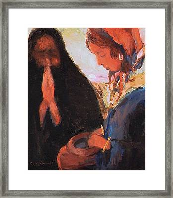 The Woman At The Well Framed Print