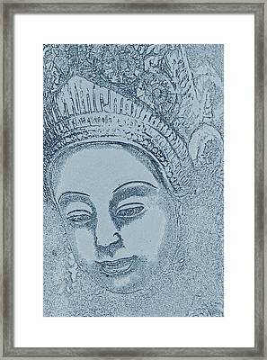 The Woman In A Thai Garden Framed Print by Nola Lee Kelsey
