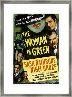 The Woman In Green, Us Poster Art, Left Framed Print