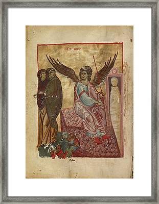 The Women At The Tomb Unknown Byzantine Empire Early 13th Framed Print by Litz Collection