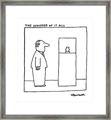 The Wonder Of It All Framed Print by Charles Barsotti