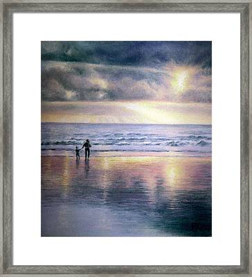 Framed Print featuring the painting The Wonder Of Light by Rosemary Colyer