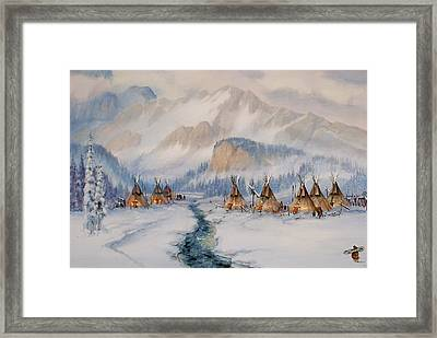 The Wood Gatherer Framed Print by Richard Hinger