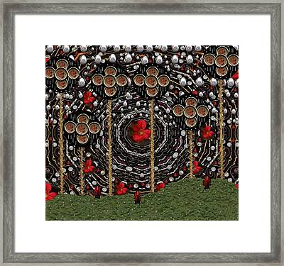 The Wood Of Marzipan Flowers Framed Print by Pepita Selles