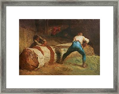 The Wood Sawyers, 1848 Framed Print