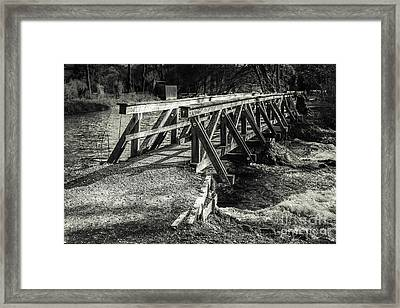 The Wooden Bridge Framed Print by Hannes Cmarits