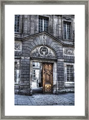 The Wooden Door Framed Print