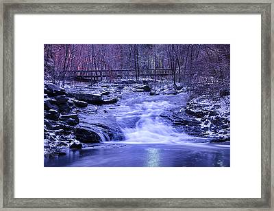 The Woodlands Waterfall Framed Print