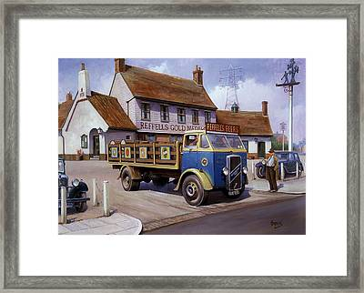 The Woodman Pub. Framed Print by Mike  Jeffries