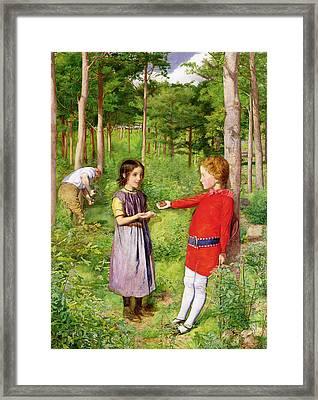 The Woodmans Daughter Framed Print by Sir John Everett Millais