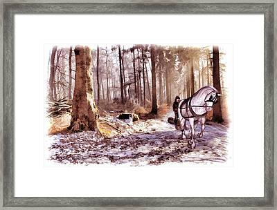 The Woodsman Framed Print by Valerie Anne Kelly