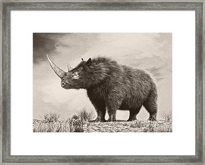 The Woolly Rhinoceros Is An Extinct Framed Print