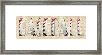 The Word Is Baseball Framed Print by Andee Design