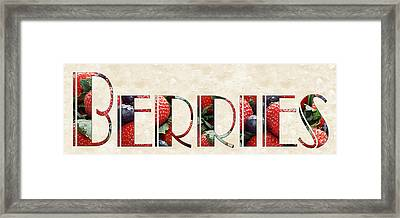 The Word Is Berries  Framed Print by Andee Design