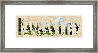 The Word Is Kansas City Framed Print