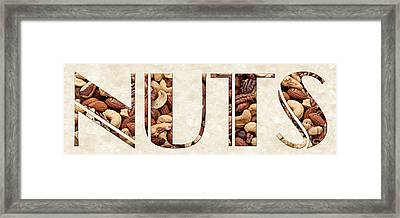 The Word Is Nuts Framed Print by Andee Design