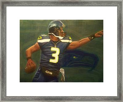 The Word Is Out Feat Russell Wilson Framed Print by D Rogale