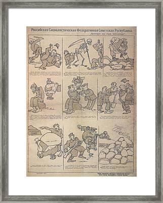 The Worker Chased Out The Capitalist Framed Print by British Library