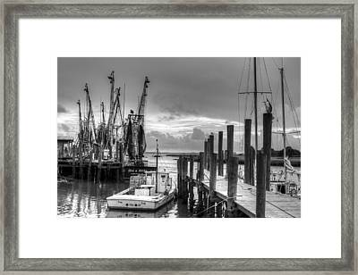 The Working Boats Framed Print by Walt  Baker