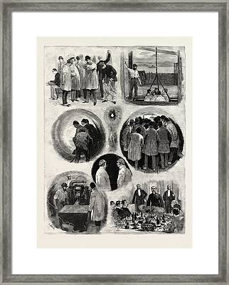 The Works Of The Channel Tunnel Framed Print by French School