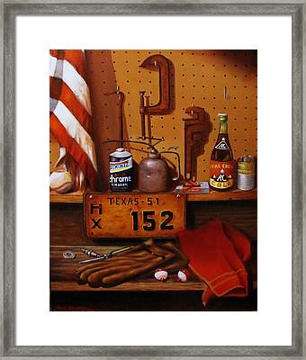 The Workshop Framed Print