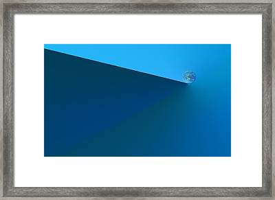 The World At A Crucial Point Framed Print by Kellice Swaggerty