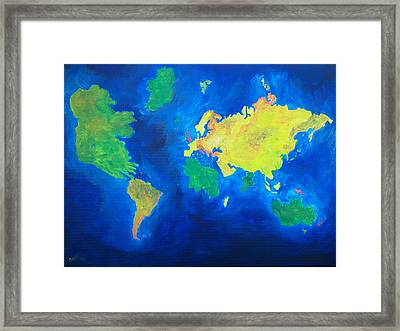 The World Atlas According To The Irish Framed Print by Conor Murphy