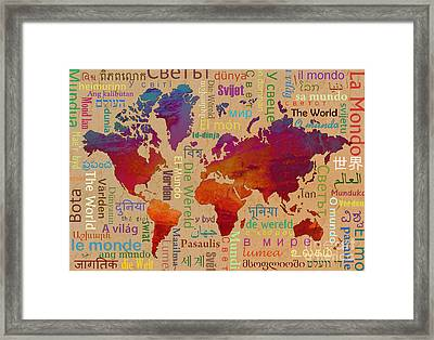 The World Framed Print by Bedros Awak