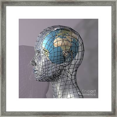 The World Concept Framed Print