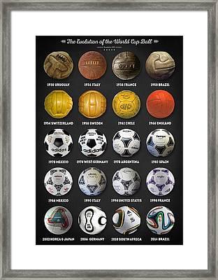 The World Cup Balls Framed Print by Taylan Apukovska