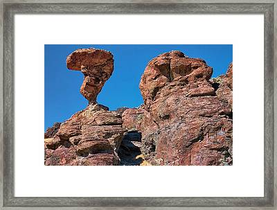 The World-famous Balanced Rock Framed Print