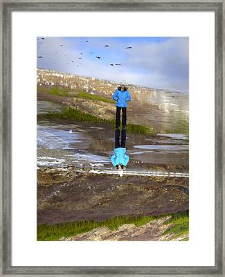 The World From A Different Angle Framed Print