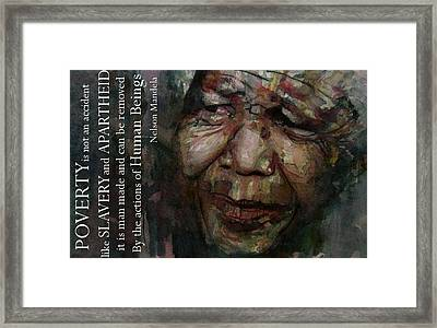 The World Holds It's Breathe Framed Print