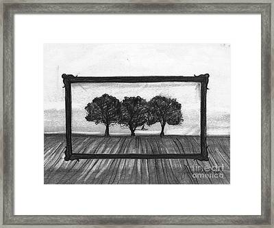 The World In A Frame Framed Print